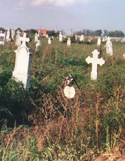 Graveyard in Elek, Hungary, where Adam's little sister is buried