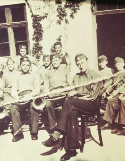 Youth Brass Band circa 1942. Adam fifth from the right