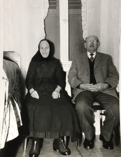 Adam's maternal grandparents, Johann and Maria Bambach, taken in Laudenbach, Germany, circa 1950