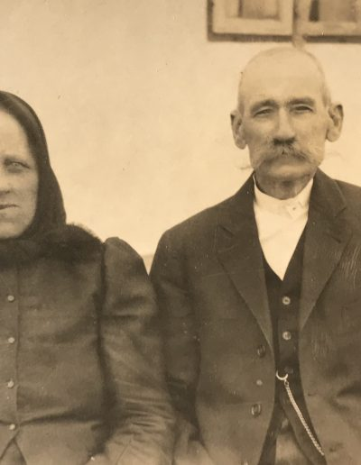 Adam's paternal grandparents Florian and Veronica Baumann, taken near Elek, Hungary, circa 1933