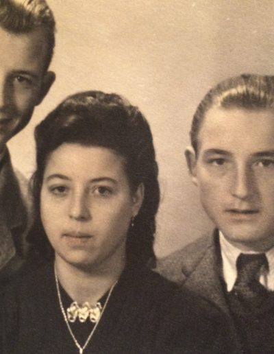 Adam, Theresa, George. Laudenbach, Germany 1948