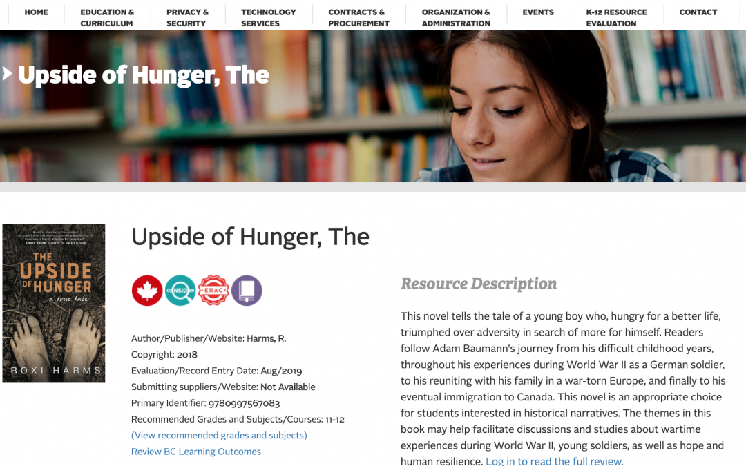 The Upside of Hunger now used in BC high schools